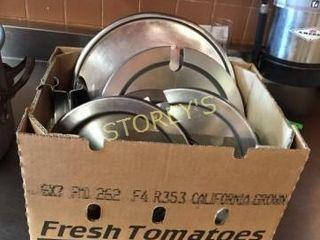 Box of Asst Pot lids