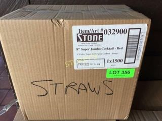 Box of 8  Red Cocktail Straws