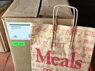 Box of Paper Meals to Go Shopping Bags