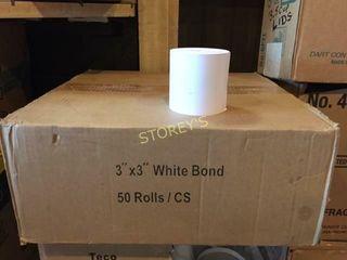 Box of 3  White Bond Paper Rolls