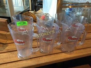 7 Coors light Beer Pitchers