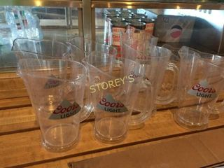7 Sm  Coors light Beer Pitchers