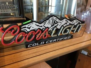 Coors light Beer Sign   Not Illuminated