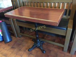 Cast Iron Base 42 x 24 Bar Table