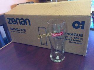 22 Pilsner Beer Glasses