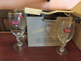 8 Stella Beer Glasses