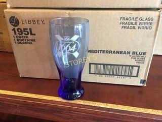 12 New Kronenburg Beer Glasses
