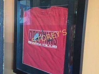 Dolphins Swim Club Framed T Shirt
