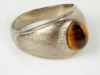 Sterling Silver Ring with Tigers Eye