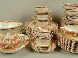Grindley Tunstall Partial China Dish Set for 12