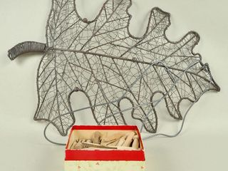 Assorted lot with large Decorative Wire leaf