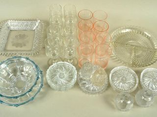 large Glass lot with Pinwheel Coasters