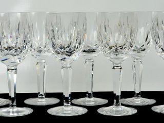 8 Waterford Crystal Wine Glasses