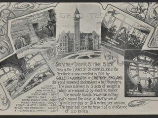 Antique Postcard Toronto City Hall Clock