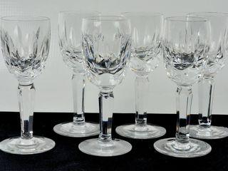 6 Waterford Crystal liqueur Glasses