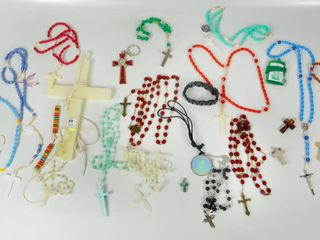 Religious lot of Rosaries   accessories