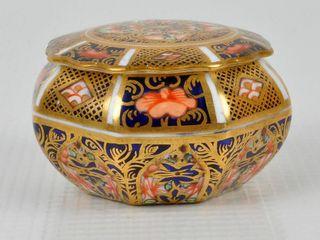 Royal Crown Derby Imari lidded Trinket Box