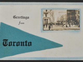 Antique Postcard Greetings from Toronto 1912