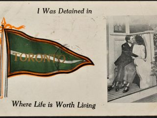 Antique Postcard I was detained in Toronto 1913