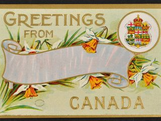 Antique Postcard Greetings from Canada