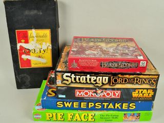 Assorted Board Games with lord of the Rings