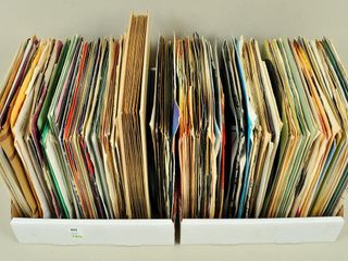large lot of Assorted 45 RPM Vinyl Records