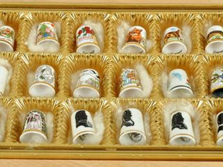Collectible Thimbles with Caverswall England
