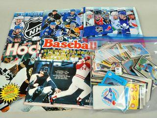 Assorted Baseball Cards   NHl Books