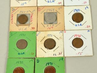 USA Coins with Pennies   Nickel
