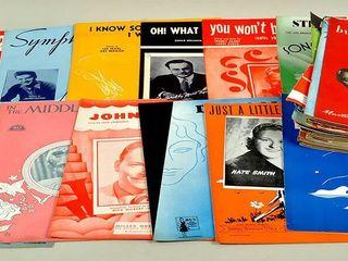 Vintage Sheet Music lot