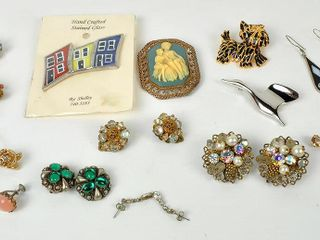 Costume Jewelry with Stained Glass