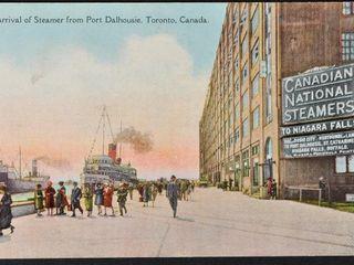 Vintage Postcard Arrival of Steamer Toronto