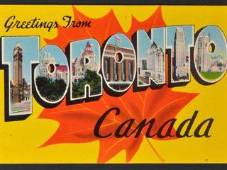 Vintage Postcard Greetings from Toronto