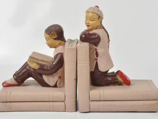 Vintage Japanese Children Book Ends