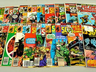 20 Comic Books with Sgt  Fury