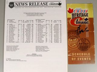 Hockey Schedule Signed by Guy lafleur