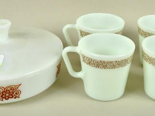 Assorted Kitchenware with Pyrex Woodland Mugs