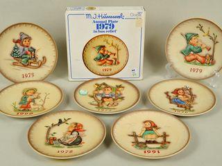 8 Hummel Goebel Annual Collector Plates