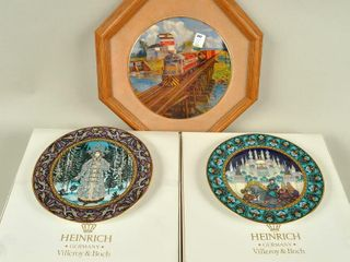 Collector Plates with Framed Canadian Pacific