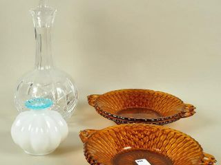 Glass Crystal lot with Cut Crystal Decanter