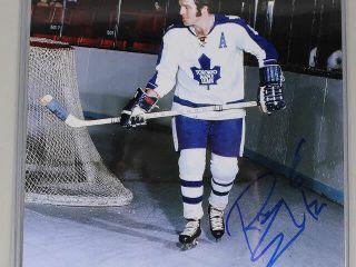 Signed Maple leaf Ron Ellis  6 Photograph