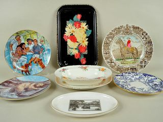 Assorted lot with Coalport Vegetable Dish