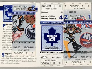Assorted NHl Stanley Cup Hockey Tickets