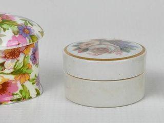 3 Flower Themed Dresser Boxes