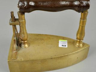 Antique Brass Slug Iron with Tail Gate