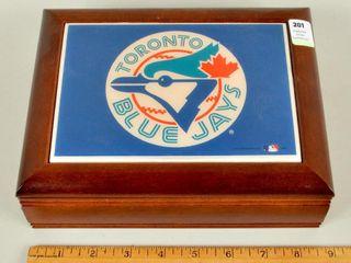 Blue Jays World Series Wooden Plastic Dresser Box