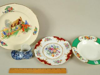 Assorted China lot with Blue Shoe