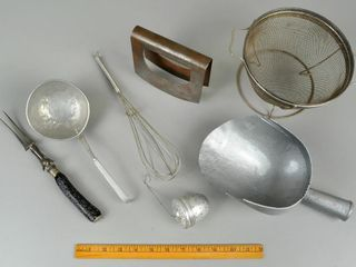 Assorted Vintage Utensils with Chopper