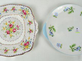 Shelley   Royal Albert Handled Cake Plates