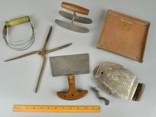 Assorted Vintage Utensils with Choppers